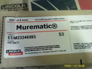 Lincoln Murematic Er70s 3 Welding Wire 035 0 09mm Copper Coating 44 Spool
