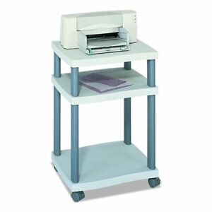 Safco Products 1860gr Wave Desk Side Printer Machine Stand Light Gray