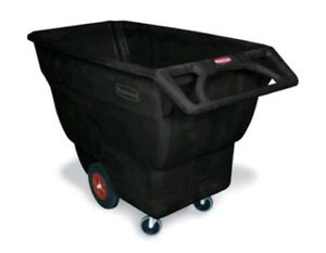 Rubbermaid Commercial Fg101300bla Hdpe Box Cart With Steering Wheel 1000 pound