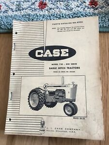 Case Tractor Parts Manual 730 830 Eagle Hitch Tractors