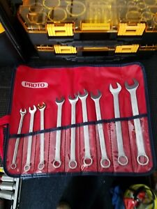 Proto 9 Piece 7 To 15mm 12 Point Metric Combination Wrench Set Vinyl Roll