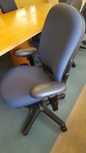 Steelcase Conference Chair Blue Fabric
