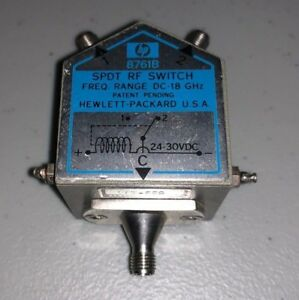 Hewlett Packard Hp8761b Dc to 18 Ghz Coaxial Switch Opt 555 Sma Female X3