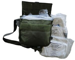 Chemical Bugout Bag W 3 Tyvek Hooded Suit Kits All New W Military Carry Bag