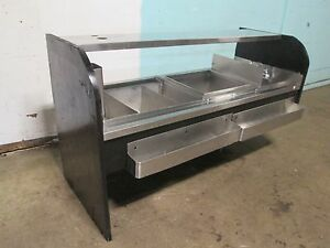 H d commercial Bartender Service Station W 9 Lines Cold Plate Ice Bin Wash Sink