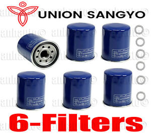 Set Of 6 Union Sangyo Oil Filter S Drain Plug Gasket For Honda