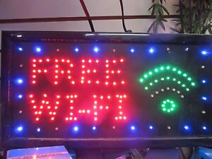 Free Wi fi Neon Led Sign store Sign window Sign smoke Shop Free Internet Sign