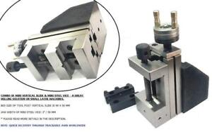 Mini Vertical Slide With 2 50 Mm Steel Vice instant Milling on Small Bench Lat