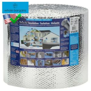 Radiant Barrier Insulation 16 In X 100 Ft Double Reflective W Staple Tab