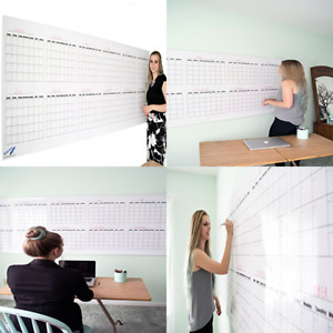 Dry Erase Wall Calendar Blank 12 Month Large 36 x96 Giant Office