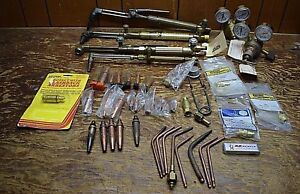 Lot Brass Copper Gauges Cutting Torch Tools Parts Airco Rexarc Etc