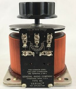 General Radio Variac Type W5 Variable Transformer 115v 6a 50 60 Cycles