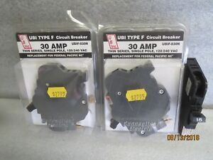 Federal Pacific 2 30 Amp 1 15 Amp Single Pole Circuit Breaker New Lot Of 3