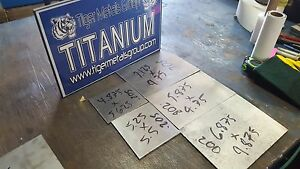 Titanium Plate 6al 4v 150 Thickness 1 900 X 9 30 As 8pcs Bundle