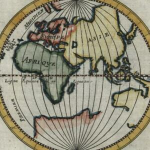 World Eastern Hemisphere Unknown Australia 1683 Old Mallet Map Hand Color