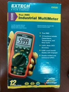 New Extech Ex520 True Rms Industrial Multimeter