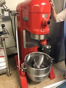 Hobart Legacy Hl600 60qt Red Mixer With Attachments