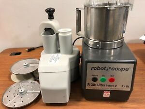 Robot Coupe R301 Ultra Series D Food Processor W Cutter Shredder Slicer Blade