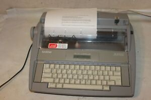Brother Sx 4000 Electronic Typewriter Lcd Display Portable Tested Working