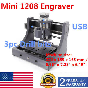 3 Axis Mini Usb Cnc1208 Router Wood 3d Carving Engraving Machine Pcb Milling Ups