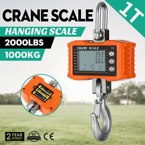 1t Digital Crane Scale 1000kg 2000lbs Heavy Duty High Precision With A Remote