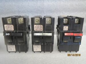 American federal pacific circuit breaker 2 pole 30 amp thick series new Lot Of 3