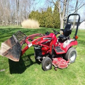 Case International Dx25e 4x4 Compact Tractor W Loader Mower