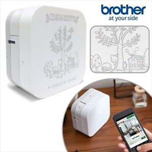 Hello Kitty Brother P touch Cube Label Printer Sanrio Bluetooth N 1802 643963