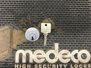 Medeco Original High Security Mortise Cylinder With 1 Key Free Shipping