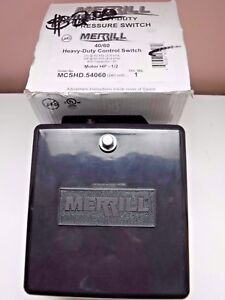 Merrill Heavy Duty 40 60 Pressure Control Switch For Water Well 1 2hp Mpshd54060