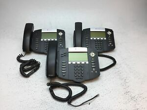 Lot Of 3 Polycom Soundpoint Ip560 Digital Telephone W handsets Tested Working