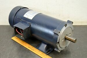 Leeson 108262 00 1 5 Hp 1750 Rpm 56c Frame 180 Volt Electric Motor Used