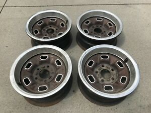 Set Of 4 Chevy Nova Camaro El Camino Monte Carlo Rally Wheels 14 X 6 Factory