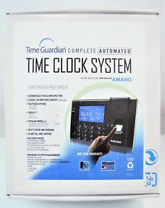 Amano Time Guardian Complete Automated Time Clock System Fpt 80 a959 Nob