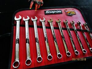 Snap On Flank Drive Plus Soexm10 Soexm19 10 19mm Metric Combination Wrench Set