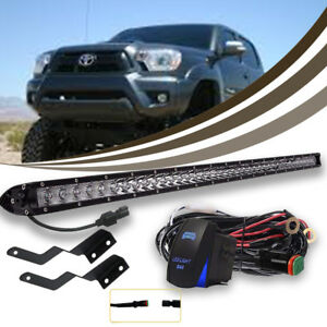 For 2005 2015 Toyota Tacoma Behind Bumper Grille 30 Led Light Bar Combo