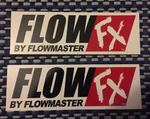 Flow Fx Flowmaster Racing Decals Sticker 6x2 Inch Free Shipping Nhra Offroad
