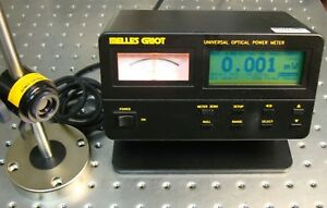 Melles Griot 13pdc001 Laser Optical Power Meter With 13pdh001 Si Photodetector