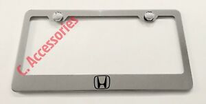 Honda Logo Accord Civic Stainless Steel Chrome Finished License Plate Frame
