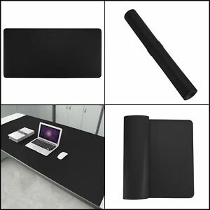 Desk Pad Protecter 35 X 18 Leather Desk Mat Blotters Organizer black