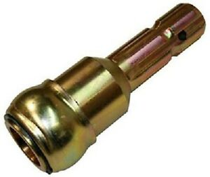 Double Hh 1 3 8 Yellow Zinc Plated Pto Adapter Spline