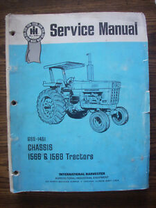 Ih Farmall International 1566 1568 Service Manual