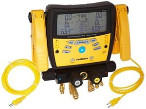 Fieldpiece Sman340 3 port Digital Manifold With Pipe Clamps