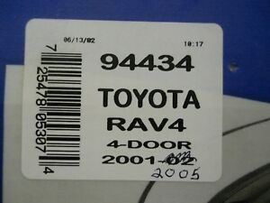 Ventvisor 4 piece 94434 Fits Toyota Rav 4 2001 2005 Brand New Sealed Pkg