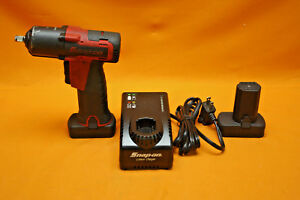 Snap on Ct761a 14 4v 3 8 Drive Microlithium Cordless Impact Wrench 2 Batteries