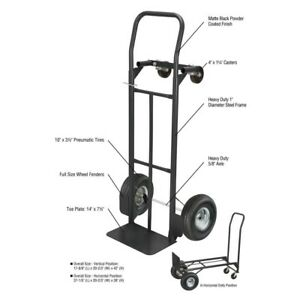 Convertible Hand Truck Trolley 600 Lbs Appliance Furniture Moving Cart Dolly