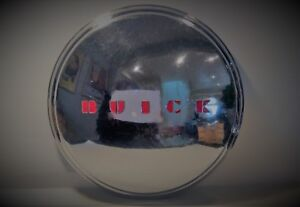 Buick 11 Dog Dish Hubcap With Recessed Red Blocked Letters 1950 S Chrome
