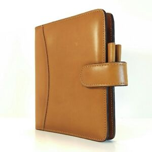 Franklin Covey Quest Compact Full Grain Aniline Leather Planner Organizer
