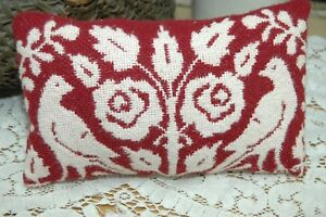 Coverlet Primitive Dove Pillow Wedding Basket Crock