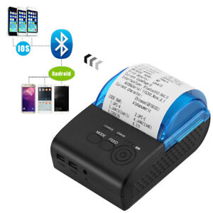 58mm Bluetooth Wireless Pocket Mobile Thermal Receipt Printer For Android Ios